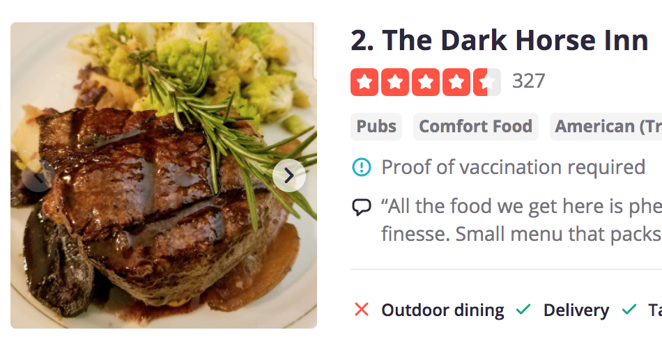 Yelp adds Proof of Vaccination Filters to Restaurants Search